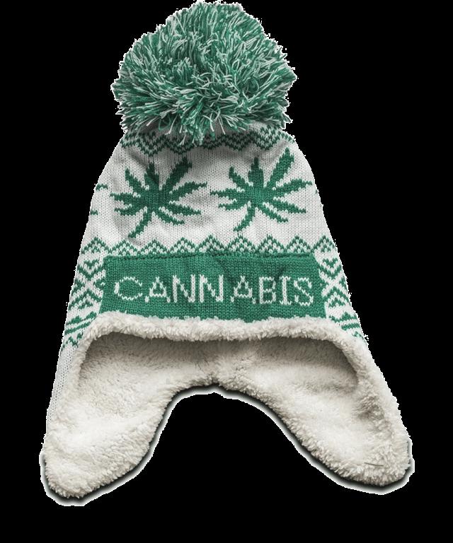 cannabis muts wit