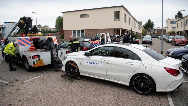 Mercedes in beslag genomen