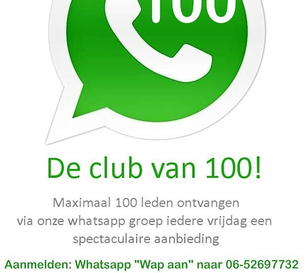 Whatsapp club van 100