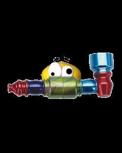 Aluminium colored pipe