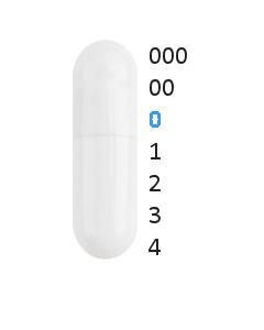 Gastro capsules maat 0 (0,68 ml)