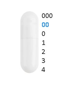 Gastro capsules maat 00 (0,91 ml)