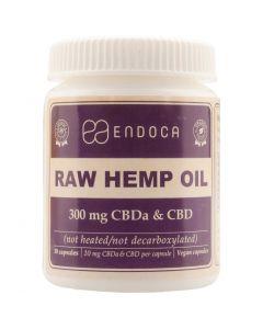 CBD RAW Capsules Hennepzaad-olie (Endoca) 300 mg