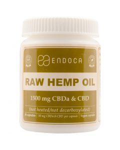 CBD RAW Capsules Hennepzaad-olie (Endoca) 1500mg