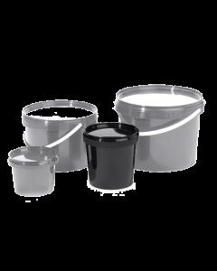 Emmertje zwart met deksel 1,2 liter
