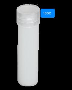 Lege buisjes met schroefdop 5ml 100 stuks