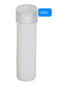 Lege buisjes met schroefdop 5ml 200 stuks