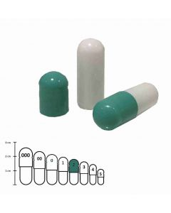 Lege capsules gelatine kleur maat 2