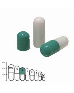 Lege capsules gelatine kleur maat 0