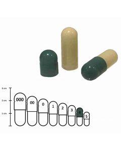 Lege capsules gelatine kleur maat 4