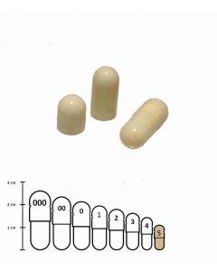 Lege capsules gelatine ivoor maat 5