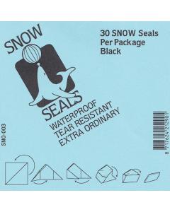Snow Seals zwart groot [30x]