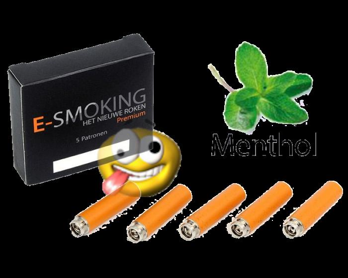 E-smoking navul, smaak menthol