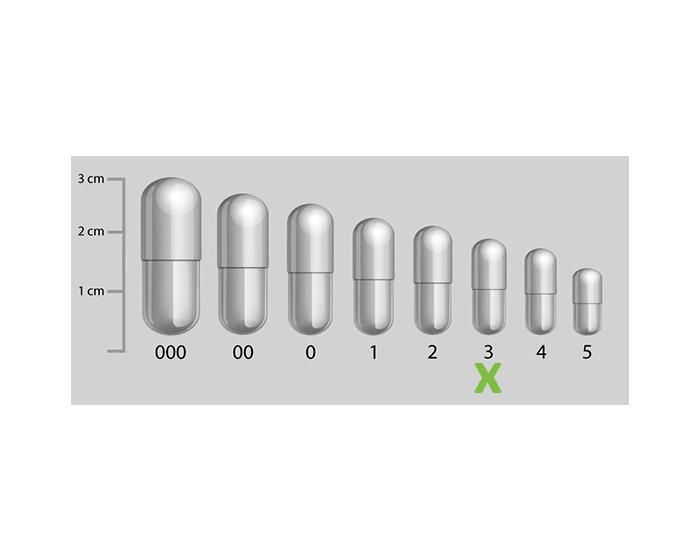 Vegetarische capsules transparant maat 3