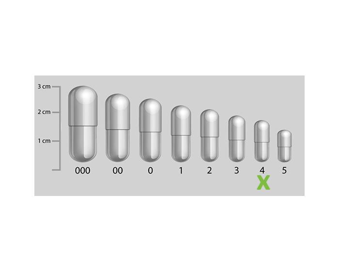 Gelatine capsules transparant maat 4