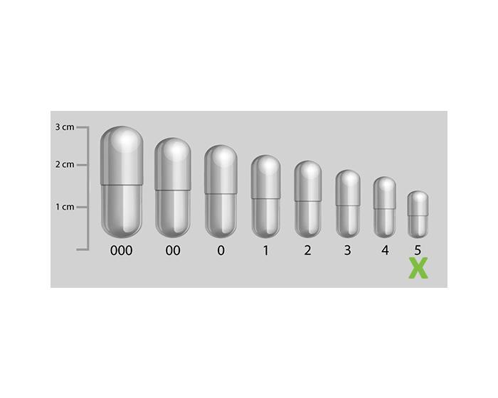 Gelatine capsules transparant maat 5
