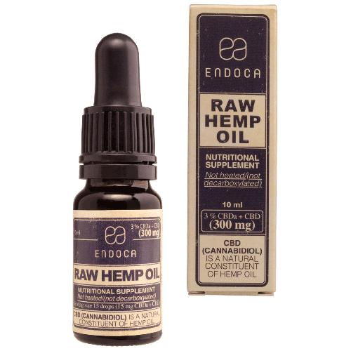 CBD olie RAW 3% (Endoca) 10 ml