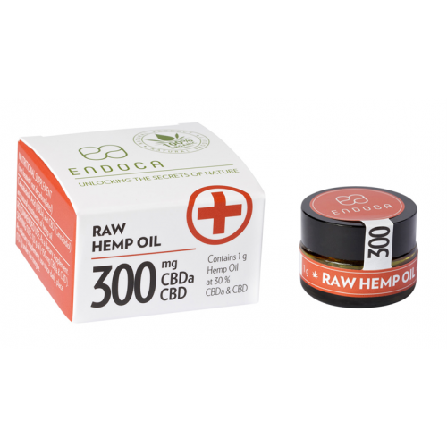 ENDOCA HEMP OIL PASTE 1 GRAM 30% RAW CBD 300 MG