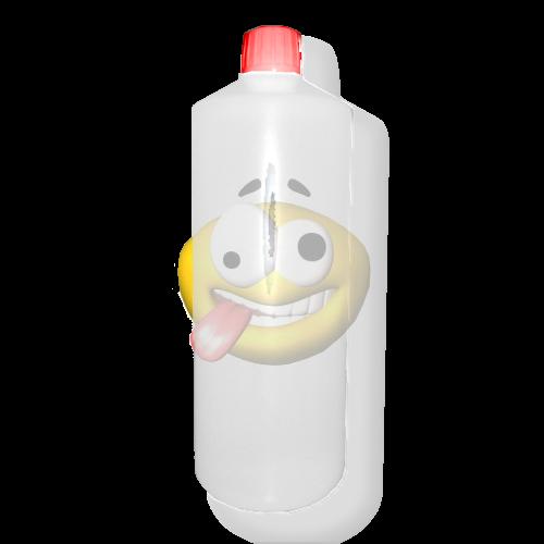 Lege fles HDPE wit 1 liter