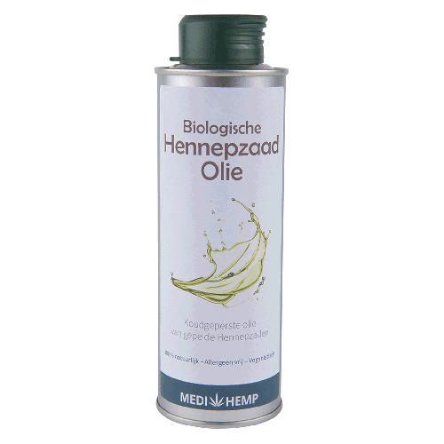 Hennepzaad-olie van gepelde biologische hennepzaden (250ml)