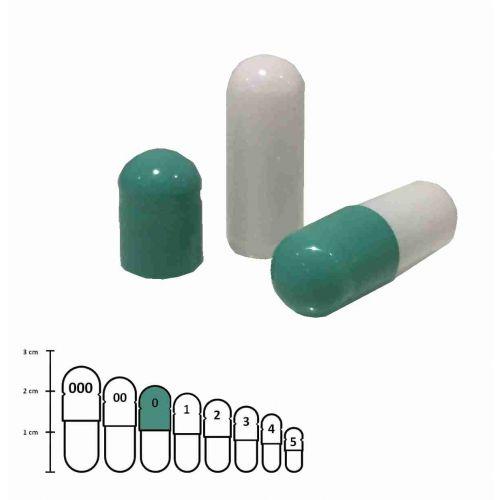 Gelatine capsules gekleurd maat 0