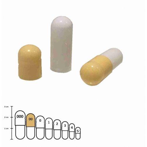 Gelatine capsules gekleurd maat 00