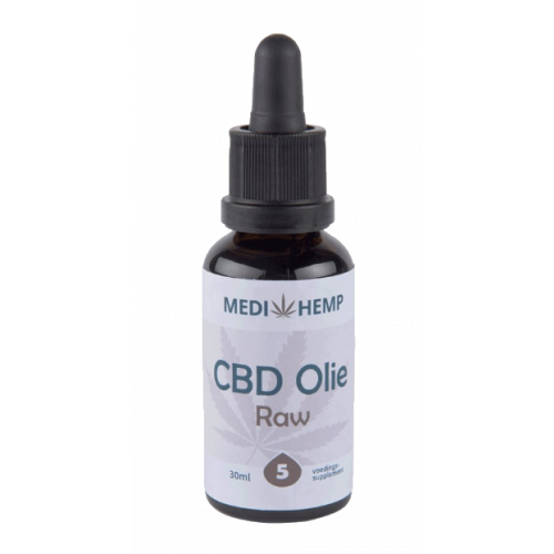CBD olie RAW MediHemp 5% 30 ml