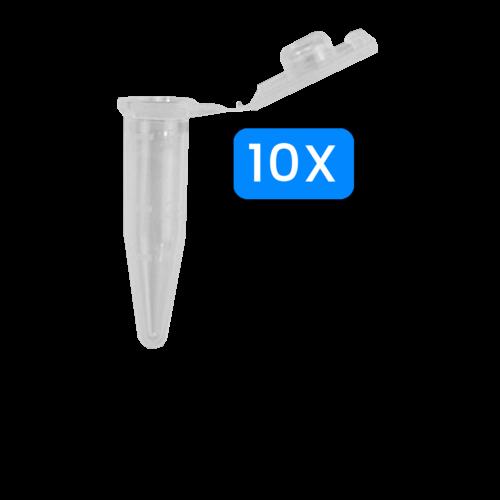 Reactiebuisje PP, 0,5 ml, 10 stuks