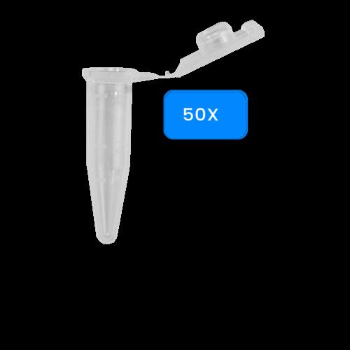 Reactiebuisje PP, 0,5 ml, 50 stuks